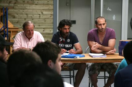 Benjamin Bagate (à droite) aux côtés de Jérôme Labat et Jean-Pierre Dumartin