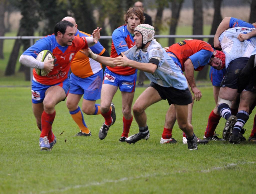 Face à Valence-d'Agen dimanche dernier, les B ont remporté leur quatrième match de la saison. (Photo jean-Louis Tastet)