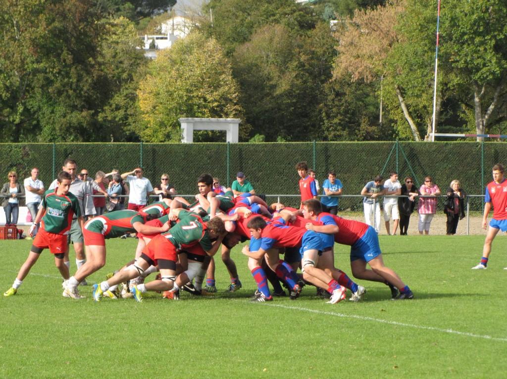 Les cadets Teulière B lors du match à domicile face à Saint-Martin-de-Seignanx le 26 octobre dernier. (Photo Bruno Pouilloux)