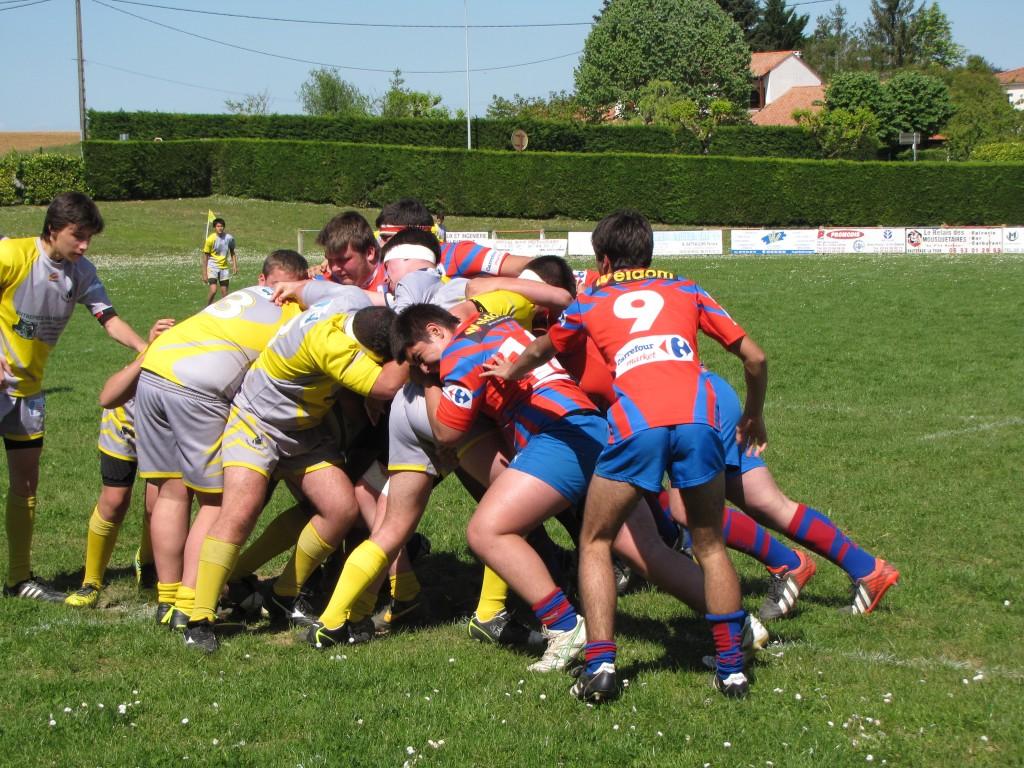 Les cadets poursuivent leur aventure en challenge Aquitaine après leur victoire e,n 8e de finale. (Photo Bruno Pouilloux)