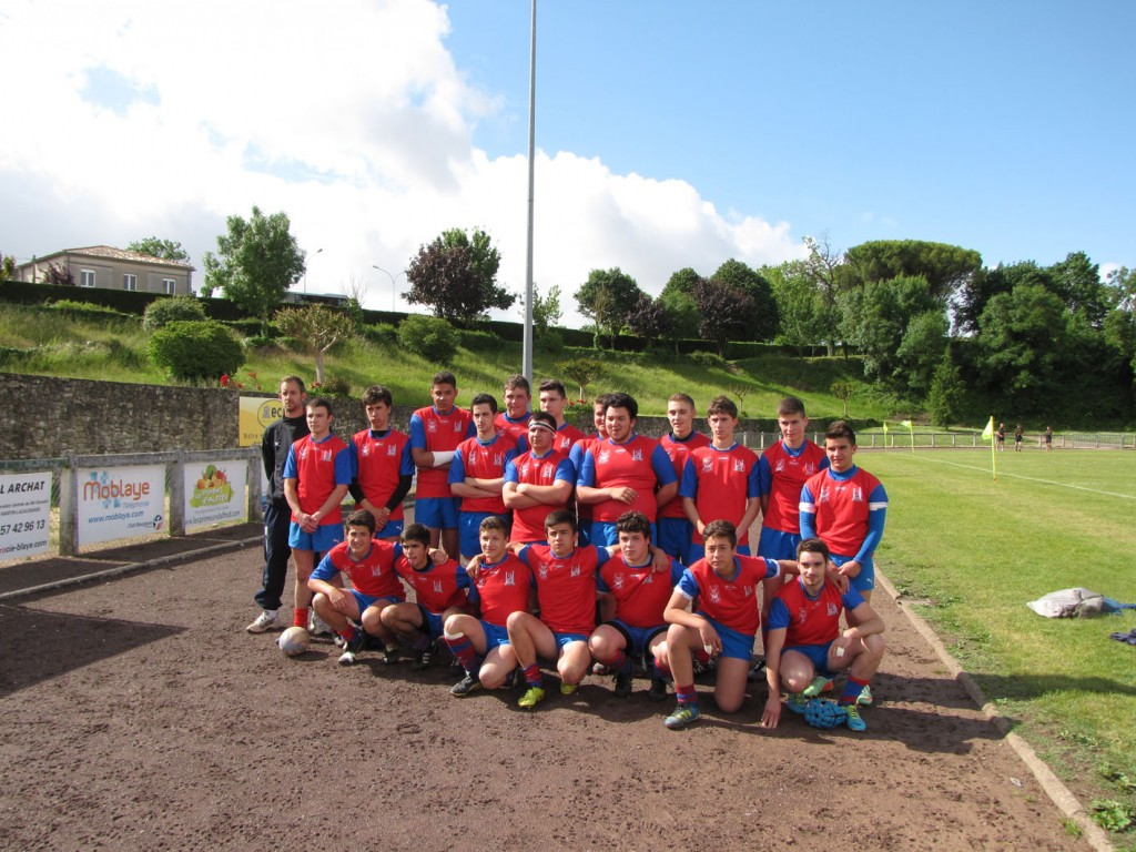 L'équipe des cadets du SAH au tournoi Julien-Sicaud de Blaye.