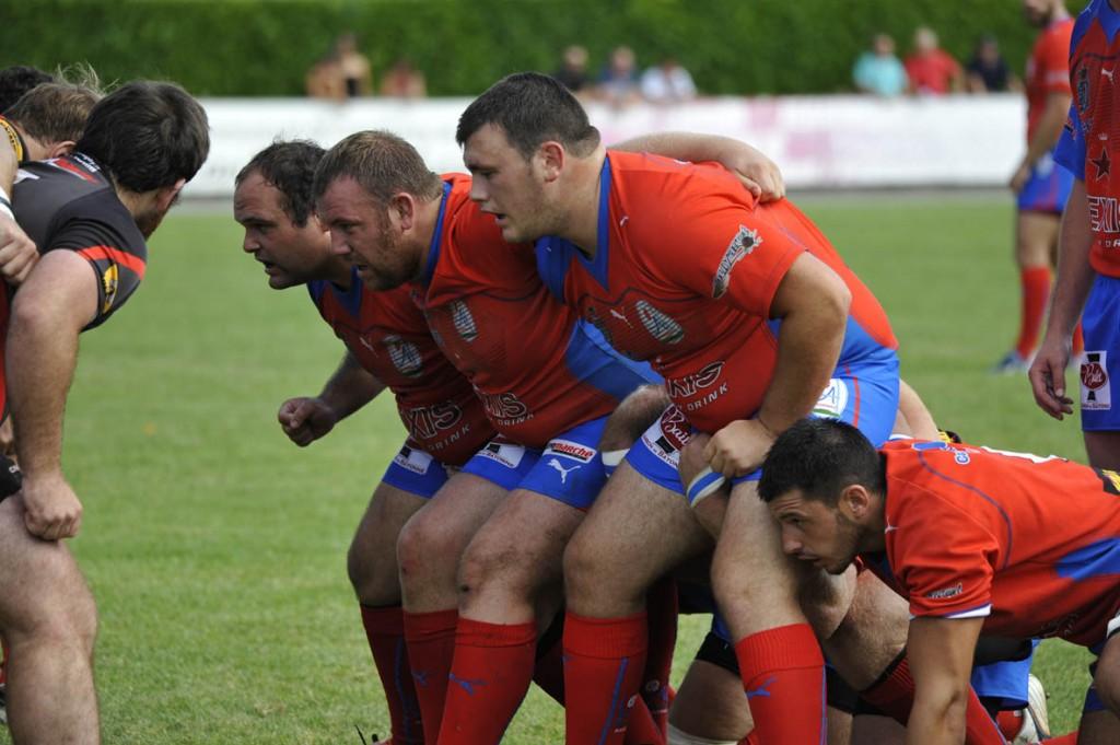 Les Rouge et Bleu ont su réagir après leur défaite à domicile contre Anglet. (Photo archives Jean-Louis Tastet)