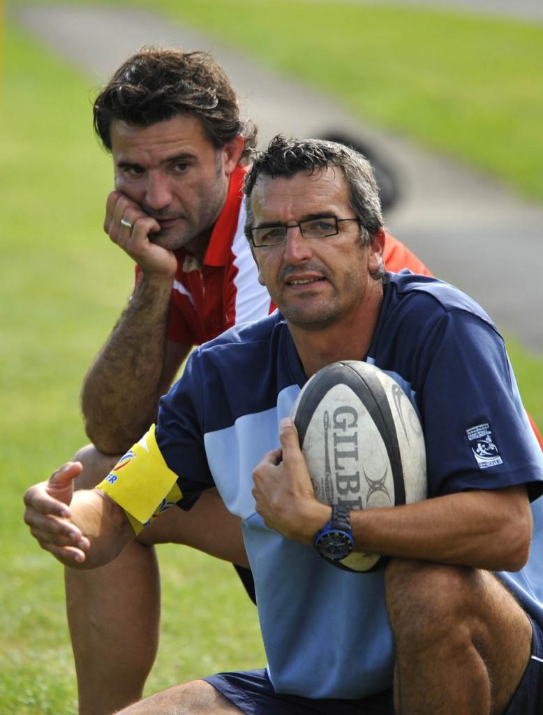 Olivier Toulouze et Jérôme Labat. (Photo Jean-Louis Tastet)