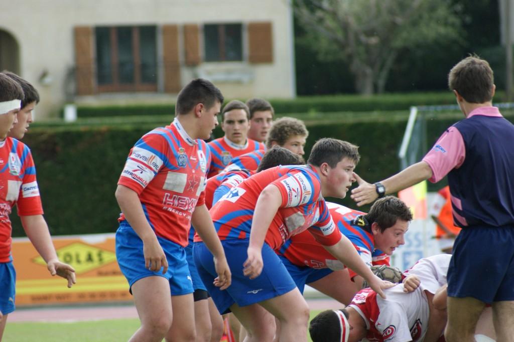 Les cadets ont écrasé Bidart 26-3 au premier tour samedi dernier.